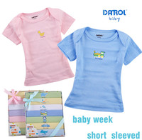 baby elements - 7 DANROL Newborn Baby Boys and Girls Week Short Sleeved T shirt Seven Elements Baby Tees for M with