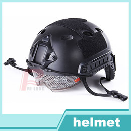 Wholesale Airsoft paintball Fast Base Jump Military Helmet Military Tactics Helmet with Protective Goggle for Emerson RL23
