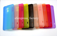 Cheap 0.3mm Super Thin Slim Matte Frosted Transparent Clear Soft PP Cover Case Skin for HTC One Max T6 Free Shipping 40pcs lot