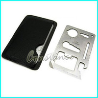 Cheap 50pcs Lot Credit card opener Novelty Cool Beer bottle opener camping Multifunctional Knife Stainless steel + Free shipping