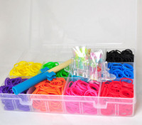 Cheap 1800 bands DIY Monster Tail Rainbow Loom Kit protable Monster tail Mini Loom Bracelet rainbow loom bands J091102#
