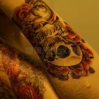 Wholesale C22 new fashion Rose tattoo new hot skull waterproof tattoo stickers