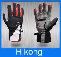 fleece gloves - Cycling GlovesWarmth Windproof Full Finger Fleece Gloves Riding Bike Gloves
