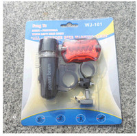 bicycle - Waterproof LED Bike Bicycle Safety Front Head Light Lamp Back Rear Flashlight DH04