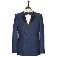 Cheap 2014 Double Breasted Groom Tuxedos Blazers Wedding Suit For Men White Navy Black Bridegroom Mens Wedding Prom Suits Jacket+Vest+Pant+Tie