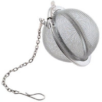 Wholesale 100pcs set Stainless Steel Mesh Tea Ball Infuser Stainless Strainer Loose Tea Filter Ball Tea Infuser Tea Ball Tea Strainers