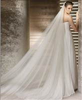 Classy Long Bridal Veil Cathedral 3 Meters Soft Net Two- Laye...