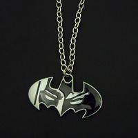 bat man logos - Movie Jewelry Batman Necklace Dark Knight Bat Logo Fashion Pendant Men Jewelry