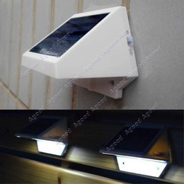 Wholesale Solar Power Panel LED Fence Gutter Light Outdoor Garden Wall Lobby Pathway Lamp Cold White SV002236