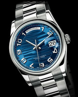 Wholesale Men s luxury fashion brand watch date blue dial Automatic steel wristwatches R57