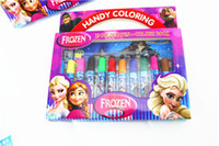 baby stationery paper - frozen water color pen elsa anna princess cartoon coloring book stationery set Fancy Drawing kids baby children christmas gifts new