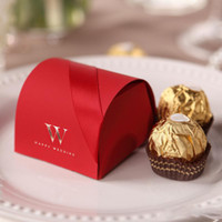small paper boxes - Elegant Red Small Gift Boxes Paper Red New Creative High End Free Shiping Wedding Candy Bags