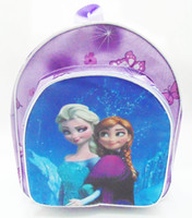 Wholesale New frozen children school bag backpack princess Anna elsa girl children s cartoon bags snack bags style SB006