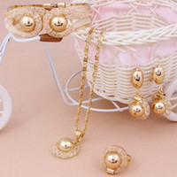 Wholesale Fashion k Gold Plated Necklace Earrings Sets African Accessories Costume Party Jewelry Setsw