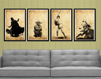 Wholesale Hot selling Handcraft Modern oil painting on canvas No frame Star Wars characters
