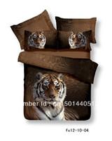 Cheap Free FedexFree FedexBlack Panther Tiger animals oil painting bedding set 3d 4pcs bedsheets cotton duvet quilt cover luxury bed linen sets qu