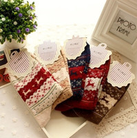 Wholesale and Retail Women Brand Socks Fashion and High Quality Thick Thermal socks Christmas Style socks Pairs