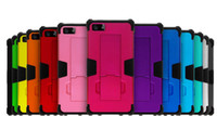 Cheap Hot sale Cell Phone Case Holster For Iphone 5G 5S For Samsung Super Robot Combo Upper and lower lid plus silicone With support clip