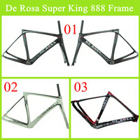Wholesale 2014 De Rosa Super King Carbon Bike Frame Real Carbon Fibre BB68 K Weave Good Quality Black White Road Bicycle Glossy Matte Frame