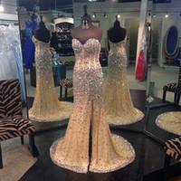 Cheap 2014 Evening Dresses Real Picture Sweetheart Mermaid Long Evening Dresses Chiffon Beaded Split Backless Prom Gowns Vestidos De Festa Longo