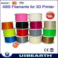 Cheap Free shipping! 1.75mm multiple colors ABS or PLA spool wire 3D Printer Filament 2.2lbs