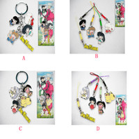 anime phone strap - Action Figure Anime Cartoon Inuyasha Metal Keychains cell phone straps Pendants