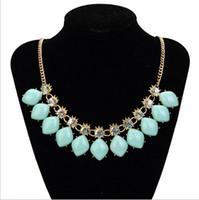 Wholesale colour gemstone necklace LD0356