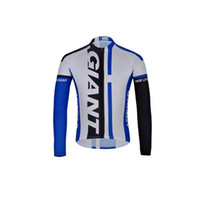 Wholesale 2014 Giant Long Sleeves Cycling Jerseys Women Mountain Bike Shirts High Quality Cheap Fast Color Men White Blue Black Cycling Jerseys Wear