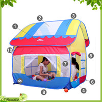 Cheap AOLE-HW Child Tent Game House Toy Portable Outdoor Play House for Children Ocean Ball Tents for Kids Baby Toys Outdoor Fun
