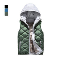 Cheap Factory direct selling Men korean hooded waistcoat fashion casual cotton vest male sleeveless jacket winter clothing WM0003 salebags