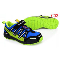 Wholesale 2014 New Kids Sports Shoes Salomon Running Shoes Boys Girls Sneakers Childrens Athletic Shoes Durable Outdoor Shoes Casual Flat Shoes