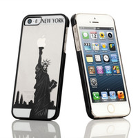 Wholesale HOT D Statue case D NEW YORK Statue Case cover For iphone S D the Statue of Liberty CASE For iphone5 S
