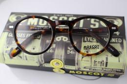 Wholesale Moscot glasses frame Black Tortoiseshell L M S retail box Iron box