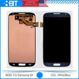 Wholesale For Galaxy S4 I9500 I9505 I337 Full LCD Screen Touch Screen Digitizer Middle Frame Board for Samsung Galaxy S4