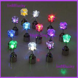 Wholesale LED Earrings Light Up Crown Shaped Shiny Studs