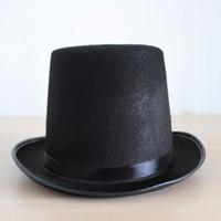Wholesale Fell in love with dance magician hat gentleman cap hat jazz hat Magic Hat Jazz hat high hat