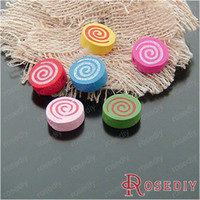 Wholesale For Baby and Children Jewelry Making MM Thickness MM Random color Wood beads Lollipop g about