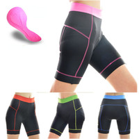 Wholesale Fashion Women Cycling Clothing Bike Bicycle D Silicone Padded Shorts Pants S XL Colors