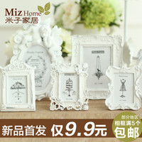 Wholesale European creative pastoral personalized photo frame swing sets inch inch inch inch picture frame wood resin angel small frame
