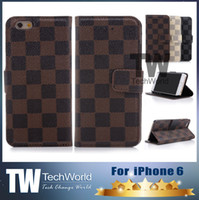 iphone 4 - For IPHONE Cases iPhone plus case Wallet Leather case Checked Style Silicone Case For iphone5 S For Samsung Galaxy Note case For S5