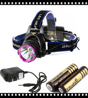 Wholesale 1set Lm CREE XM L XML U2 W LED Headlamp Rechargeable Headlight Head Light Lamp x18650 MAH Battery Charger Camping Backpacking