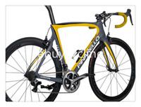 Wholesale Hot sale carbon frame with seatpost k weave carbon bike frame bicycle frame black yellow carbon frame road bike carbon complete frames