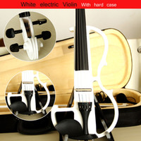 Wholesale High quality violin Send violin Hard case Handmade white electric violin with Headphone and power lines