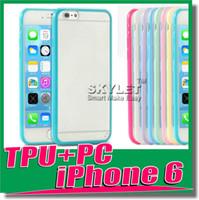 For Apple iPhone tpu gel case - Iphone Case Iphone Plus Cases Note4 Case TPU Soft Clear Transparent Mat PC clear case Gel Cover Cases For IPHONE S Galaxy S5 Note
