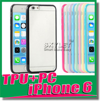 Wholesale For Iphone Case Iphone Plus Case Mat PC TPU Soft Clear Transparent Gel Cover Cases For Iphone6 IPHONE S Galaxy S5 Note