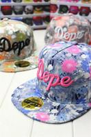 brand baseball cap - New Brand Design Fashion Colorful Snapback Flower Printting Baseball Cap Men Women Hip Hop Hat