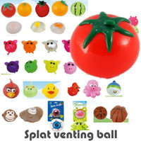 Wholesale Splat Ball Vent Toy Venting Ball Sticky Smash Water Ball Stress Goods Various Types Pig Tomato Rat Egg Fruit for choose