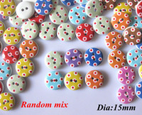 Wholesale 200 Random Mixed numeral Pattern Wooden Buttons botoes Scrapbooking Sewing bulk Buttons Garment Accessory accessories dia mm