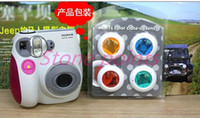 Wholesale 2015 New Real Shockproof Camera Bags free Delivery Fuji Polaroid Cameras Mini7 Special Color Filter Mirror