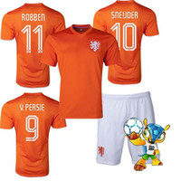 Men soccer uniforms - Whosales Netherlands Football Jerseys World Cup Holland Soccer Jersey Soccer Uniforms Kits Robben Discount Netherlands Free Ship